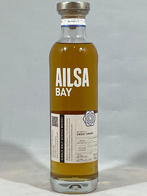 Ailsa Bay Release 1.2 Sweet Smoke, Single Malt Scotch Whisky, 700ml at 48.9% vol.  www.maltsandspirits.com/ailsa-bay-1-2
