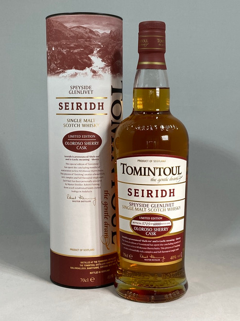 Tomintoul Seiridh, Batch 1, Speyside Single Malt Scotch Whisky