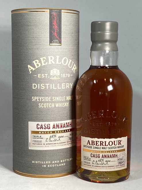 Aberlour Casg Annamh, Batch 4, Speyside Single Malt Scotch Whisky, 70cl @ 48% alc./vol. www.maltsandspirits.com/aberlour-casg-annamh-4
