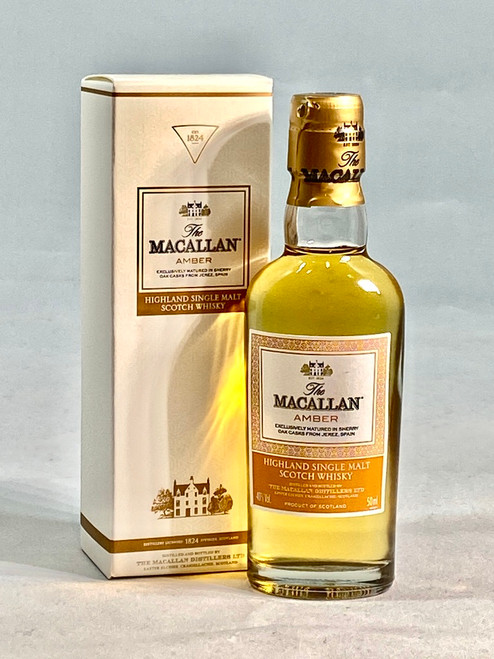 The Macallan Amber Miniature,  Highland Single Malt Scotch Whisky,