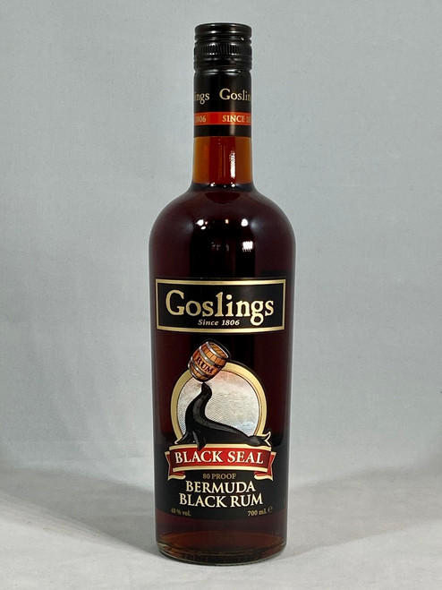 Goslings Black Seal Bermuda Black Rum, 70cl at 40% alc/vol. www.maltsandspirits.com/goslings-black-seal-rum