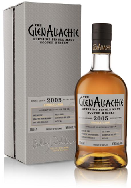The Glenallachie 2005, Cask #5182 15 Year Old, American Virgin Oak Barrel, Speyside Single Malt Scotch Whisky, Speyside Single Malt Scotch Whisky  700ml at 57.6% alc./vol.  www.maltsandspirits.com/the-glenallachie-cask-5182
