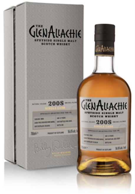 The Glenallachie 2008, Cask #3966, 12 Year Old, Rioja Barrel, Speyside Single Malt Scotch Whisky  700ml at 56.6% alc./vol.  www.maltsandspirits.com/the-glenallachie-cask-3966