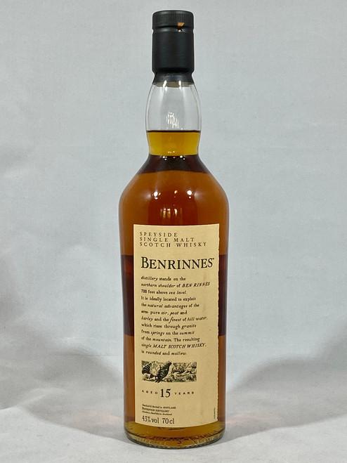 Benrinnes 15 Years Old, Speyside Single Malt Scotch Whisky, 70cl at 43% alc./vol.  www.maltsandspirits.com/benrinnes-15