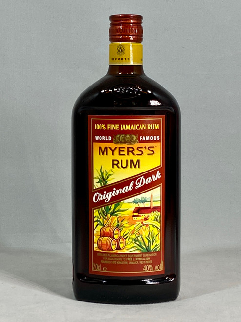 Myer's Rum Original Dark, 100% Fine Jamaican Rum, 70cl at 40% alc/vol. www.maltsandspirits.com/myer-s-rum-dark