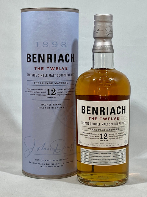 Benriach The Twelve, Speyside Single Malt Scotch Whisky, 70cl at 46% alc. /vol.   www.maltsandspirits.com/benriach-twelve