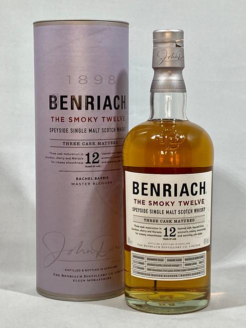 Benriach The Smoky Twelve, Speyside Single Malt Scotch Whisky, 70cl at 46% alc. /vol.   www.maltsandspirits.com/benriach-smoky-12