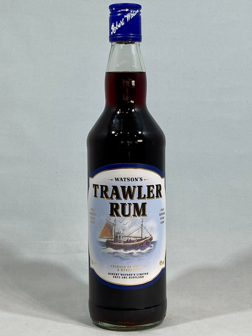 Watson's Trawler Rum,  Dark Rum, 70cl at 40% alc/vol. www.maltsandspirits.com/watsons-trawler-rum