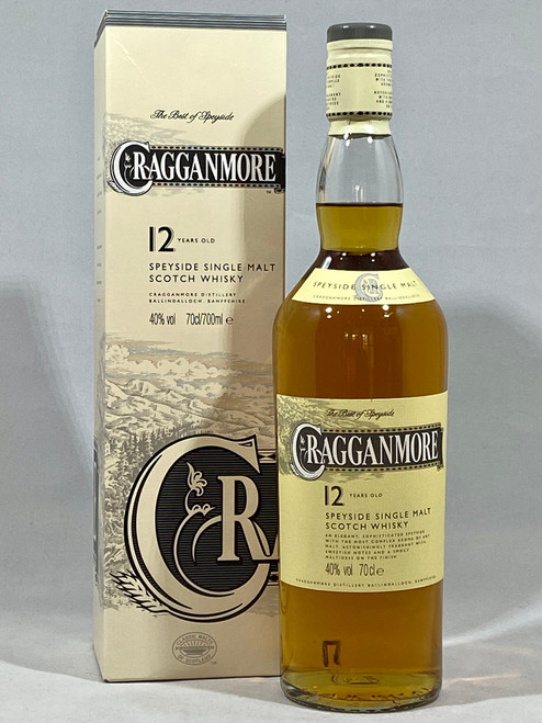 Cragganmore 12 Years Old, Speyside Single Malt Scotch Whisky, 70cl at 40% alc. /vol.