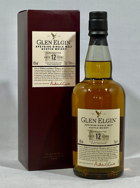 Glen Elgin 12 Years Old, Speyside Single Malt Scotch Whisky, 70cl at 43% alc. /vol.