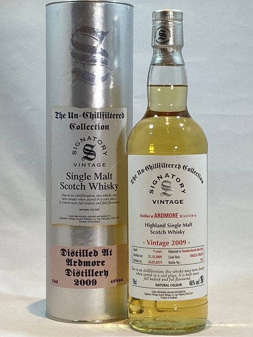 Signatory Vintage Ardmore 2009 9 Year Old Highland Single Malt Scotch Whisky