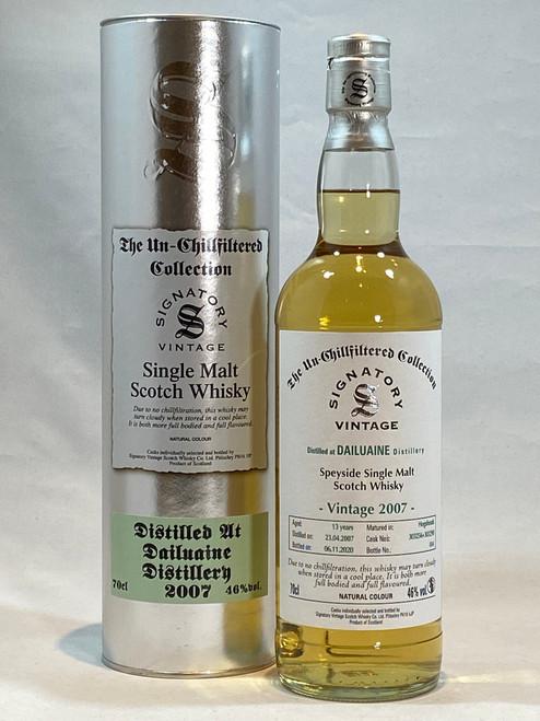 Signatory Vintage Dailuaine 2007 13 Year Old Speyside Single Malt Scotch Whisky