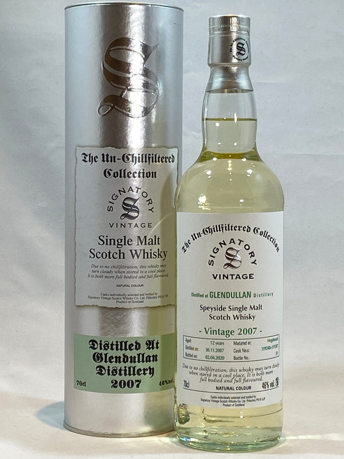 Signatory Vintage Glendullan  2007 12 Year Old Speyside Single Malt Scotch Whisky