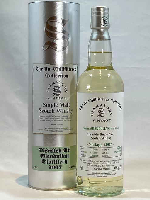 Signatory Vintage Glendullan  2007 12 Year Old Speyside Single Malt Scotch Whisky