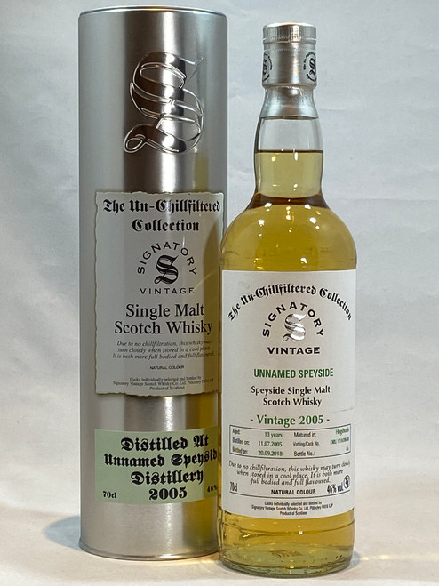 Signatory Vintage Unnamed Speyside 2005, 13 Year Old Single Malt Scotch Whisky