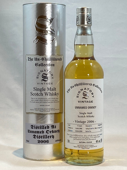 Signatory Vintage Unnamed Orkney 2006, 13 Year Old Single Malt Scotch Whisky
