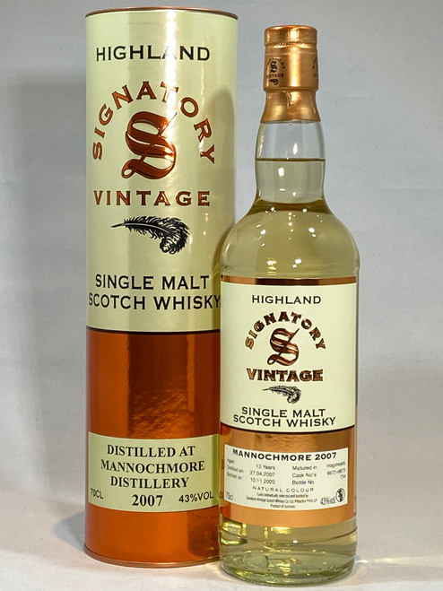 Signatory Vintage Mannochmore 2007 Highland Single Malt Scotch Whisky