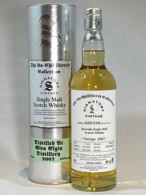 Signatory Vintage Glen Elgin 2007 Speyside Single Malt Scotch Whisky