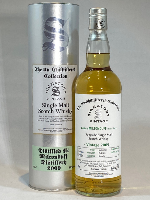 Signatory Vintage Miltonduff 2009 Speyside Single Malt Scotch Whisky