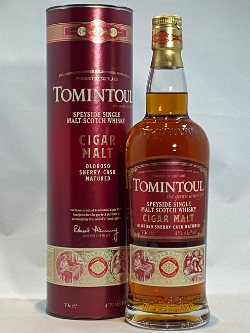 Tomintoul Cigar Malt, Speyside Single Malt Scotch Whisky