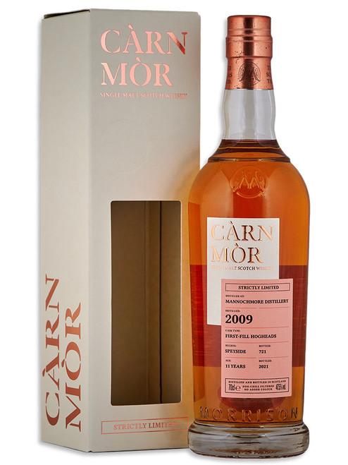 Mannochmore 11 Year Old (2009) First Fill Bourbon Hogshead, Càrn Mòr Strictly Limited Scotch Whisky.