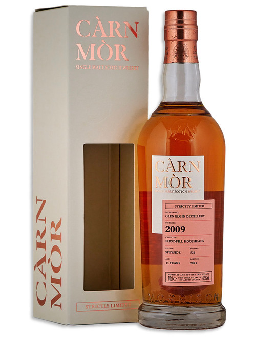 Glen Elgin 12 Year Old (2008) First Fill Bourbon Hogshead, Càrn Mòr Strictly Limited Scotch Whisky.