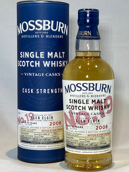 Mossburn Glen Elgin 2008 Cask Strength, Speyside Single Malt Scotch Whisky