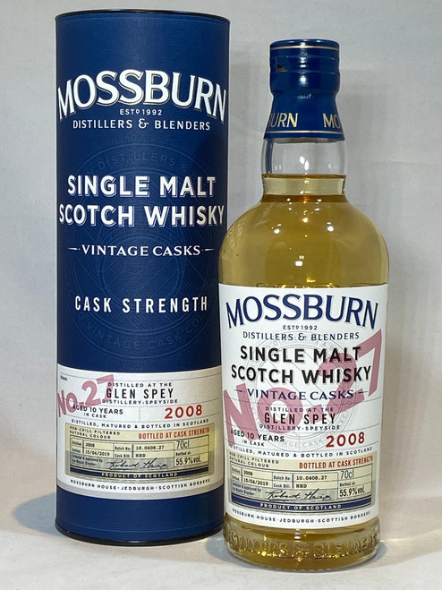 Mossburn Glen Spey 2008 Cask Strength, Speyside Single Malt Scotch Whisky