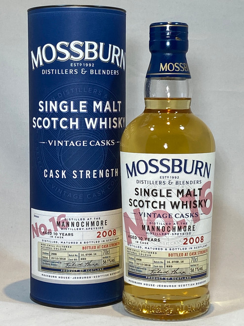Mossburn Mannochmore 2008 Cask Strength, Speyside Single Malt Scotch Whisky