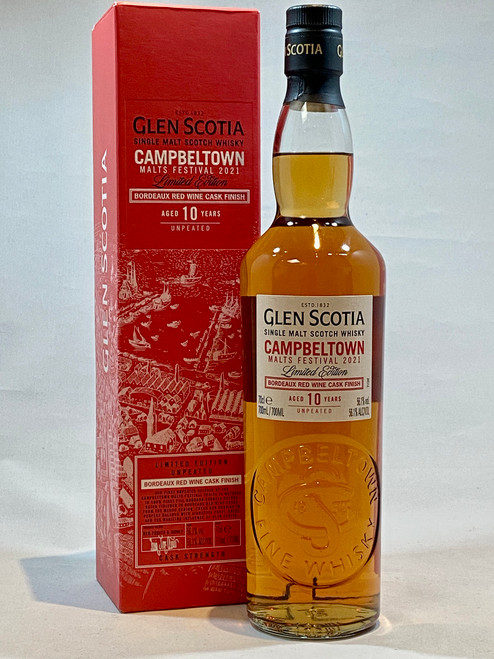 Glen Scotia Bordeaux Red Wine Cask Finish 10 Year Old, Campbeltown Single Malt Scotch Whisky
