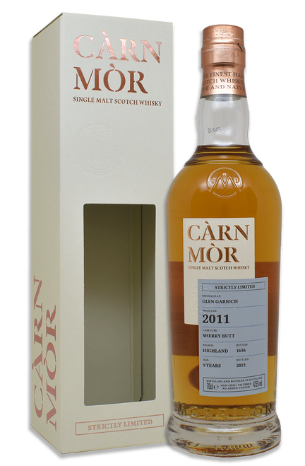 Glen Garioch 9 Year Old (2011) Sherry Butt, Càrn Mòr Strictly Limited Scotch Whisky.