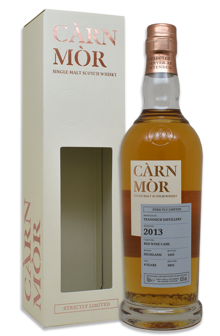 Teaninich 8 Year Old (2013) Red Wine Cask, Càrn Mòr Strictly Limited Scotch Whisky.