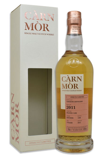 Tormore 9 Year Old (2011) Peated Cask, Càrn Mòr Strictly Limited Scotch Whisky.