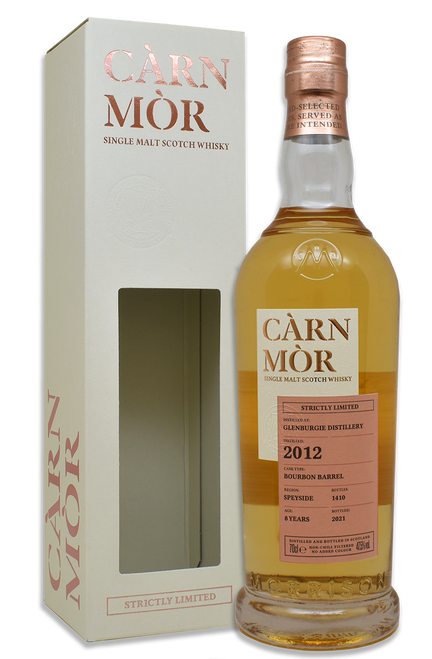 Glenburgie 8 Year Old (2012) Bourbon Barrel, Càrn Mòr Strictly Limited Scotch Whisky.
