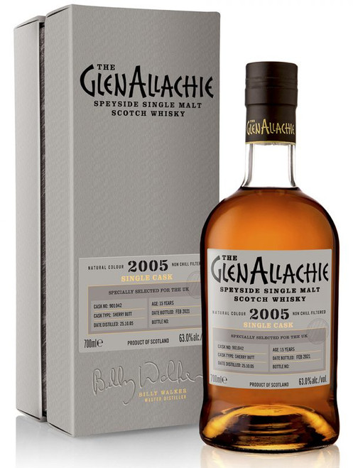 Glenallachie 2005 Cask #901042, 15 Year Old Sherry Butt, Speyside Single Malt Scotch Whisky