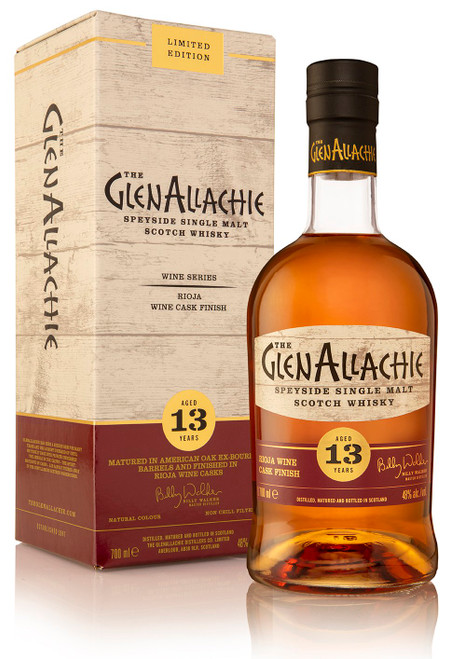 Glenallachie 13 Year Old Rioja Wine Cask Finish, Speyside Single Malt Scotch Whisky