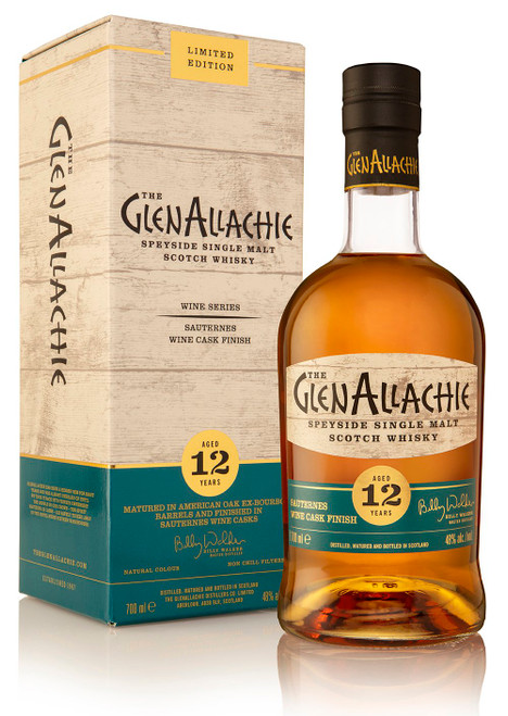 Glenallachie 12 Year Old Sauternes Wine Cask Finish, Speyside Single Malt Scotch Whisky
