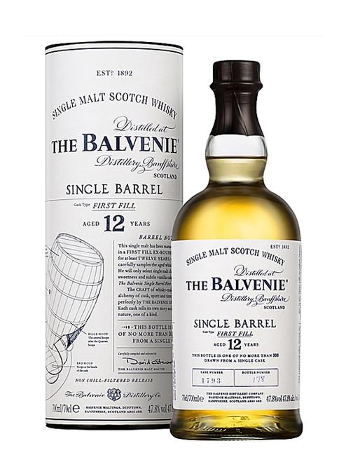 The Balvenie, Single Barrel, Aged 12 Years, Speyside Single Malt Scotch Whisky