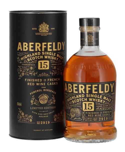 Aberfeldy 15 Year Old, Limited Edition Pomerol Finish, Highland Single Malt Scotch Whisky