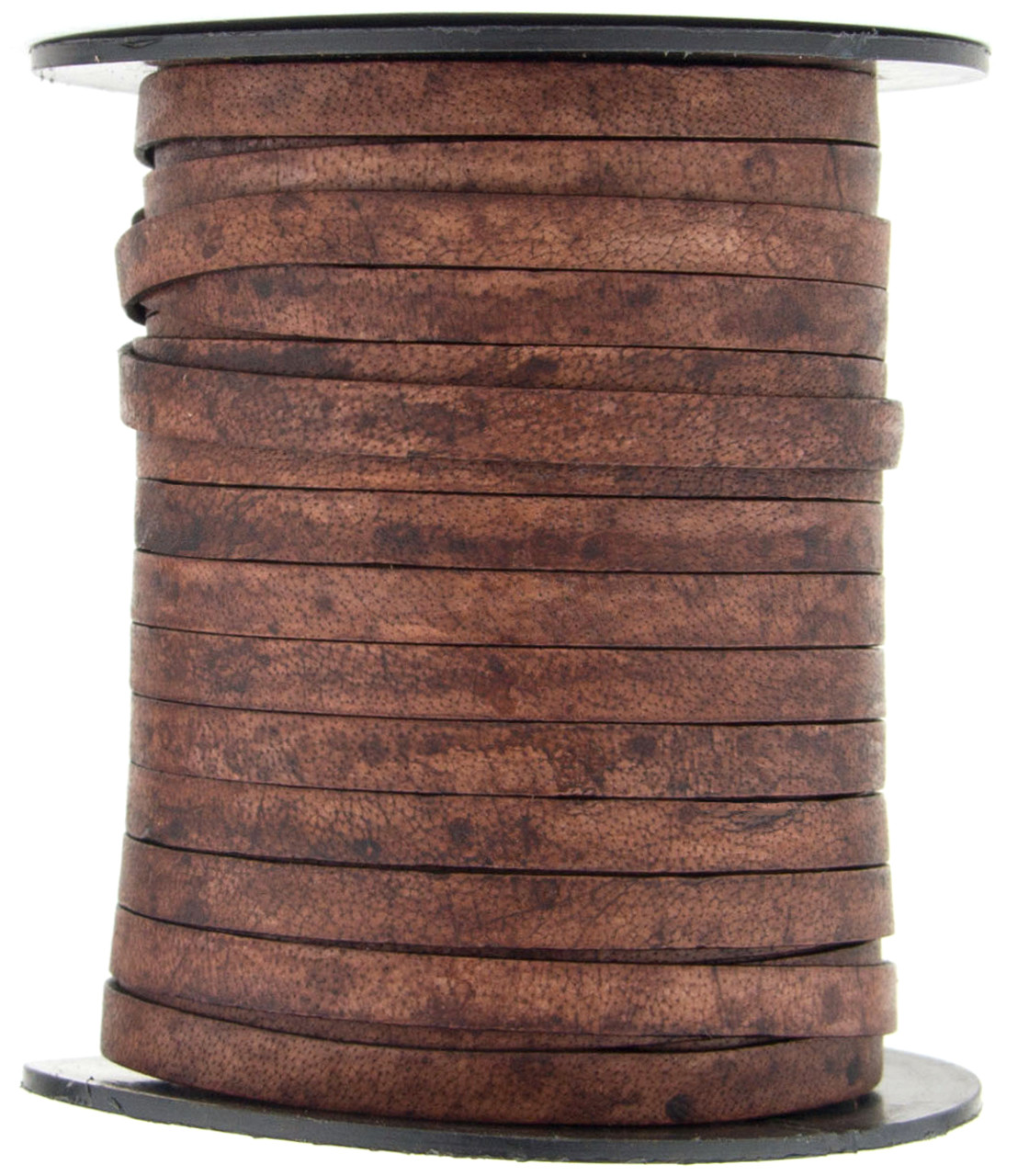 Antique Brown 1 Yard Xsotica-Flat Leather Cords 10.0 MM X 2.0 MM