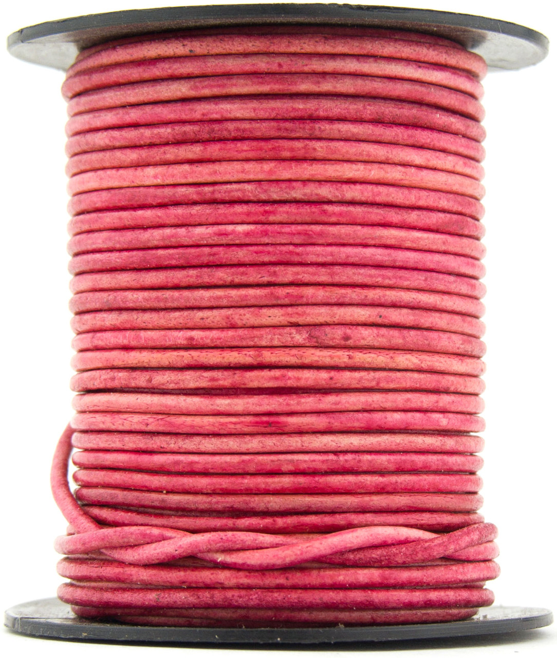 11 yards Xsotica® Pink Hot Natural Dye Round Leather Cord 1.5mm 10 meters