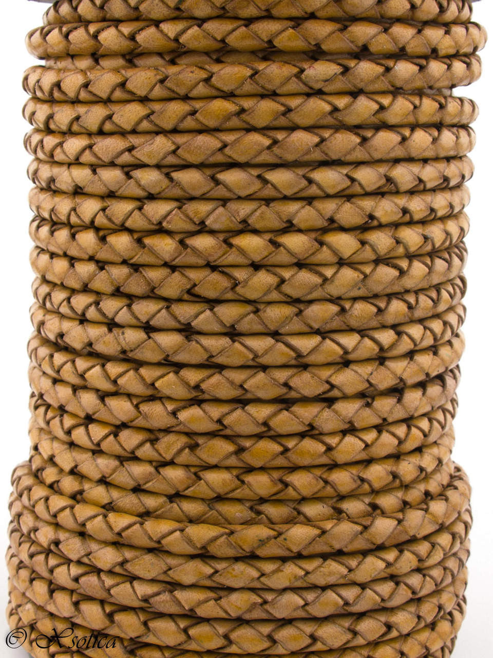 Flat Leather Cords 3.0MM X 2.0MM Xsotica Mustard Natural 1 Yard