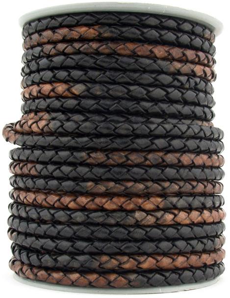Gypsy Sippa Round Bolo Braided Leather Cord 5 mm 1 Yard