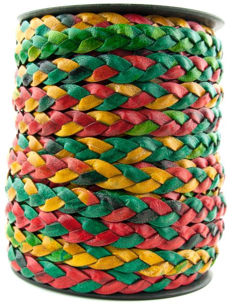 Kinte Gypsy Natural Dye Flat Braided Leather Cord 10 mm