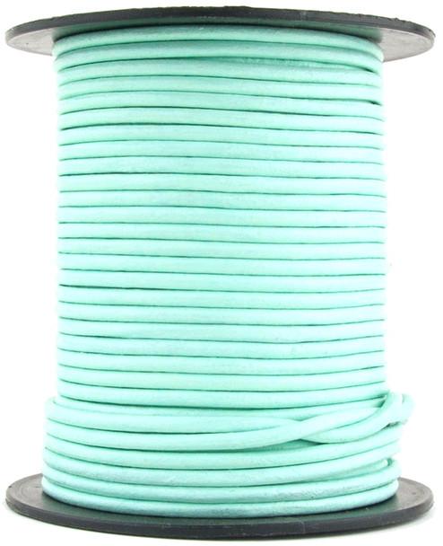 Aqua Round Leather Cord 1.5mm 25 meters