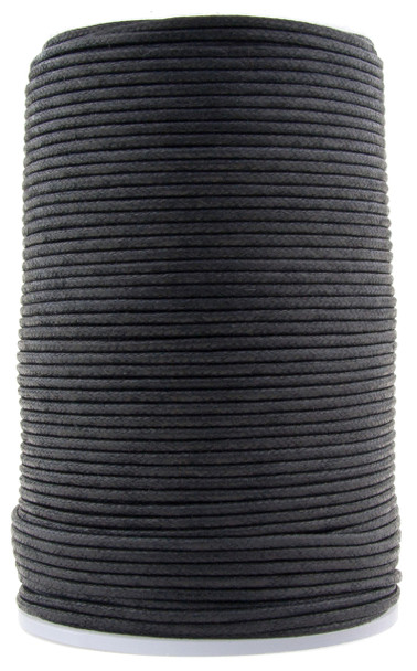 Black Round Waxed Cotton Cord