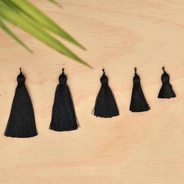 Silk Tassel,DIY Craft Supplies Handmade Jewelry Tassels - Black Tassle / Tassles