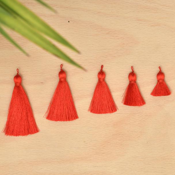 Silk Tassel,DIY Craft Supplies Handmade Jewelry Tassels - Red Tassle / Tassles