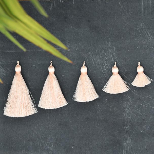 Silk Tassel,DIY Craft Supplies Handmade Jewelry Tassels - Light Brown Tassle / Tassles