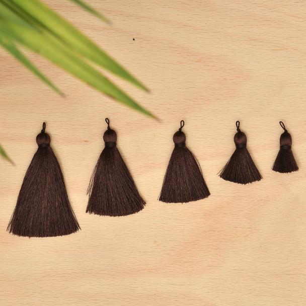 Silk Tassel,DIY Craft Supplies Handmade Jewelry Tassels - Dark Brown Tassle / Tassles
